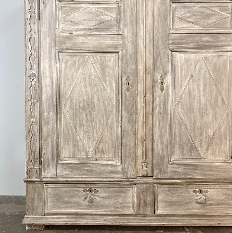 Swedish Whitewashed Armoire, 19th Century For Sale 1