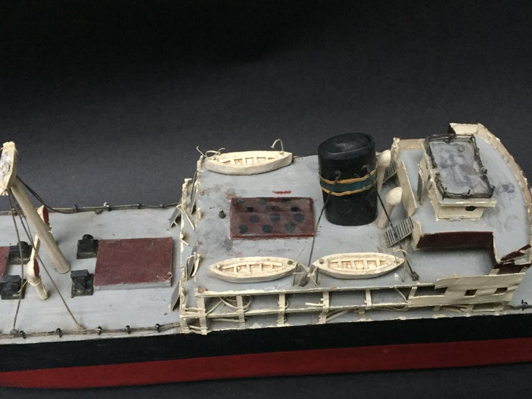 Swedish Wood Steamship Model For Sale 2
