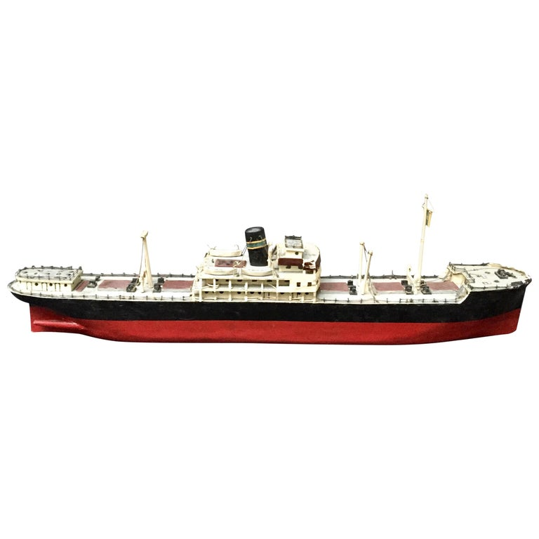 Swedish Wood Steamship Model For Sale