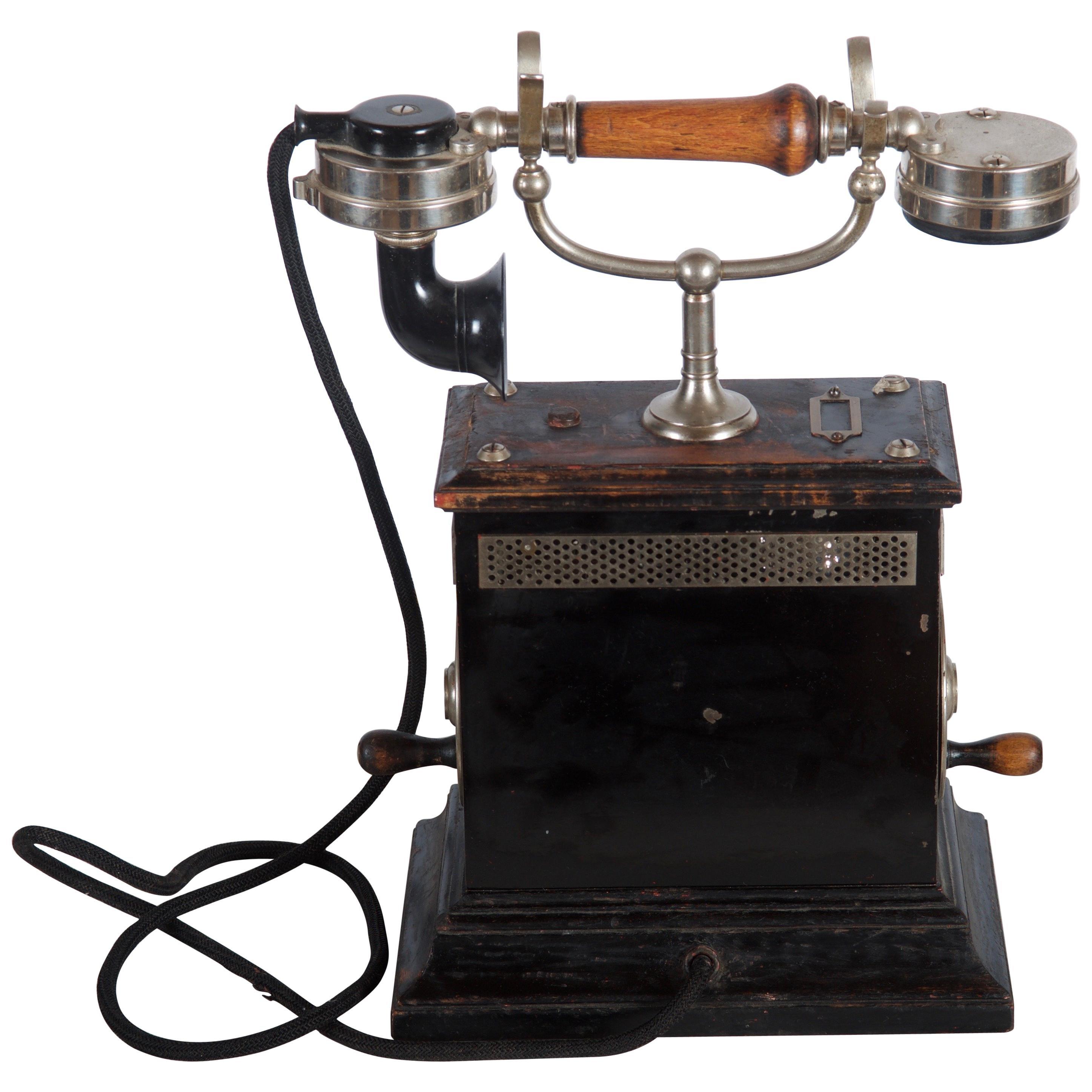 Swedish Wooden Table Phone