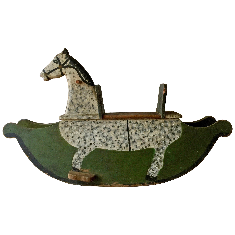 Swedish Wooden Toy Horse Rocker