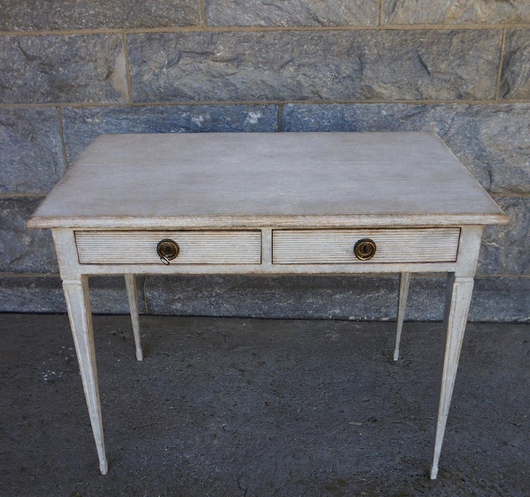 Gustavian Swedish Writing Table with Drawers For Sale