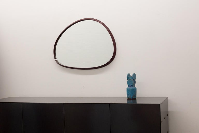 Sweep Wall Mirror in Brushed Aluminum For Sale 2