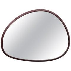 Sweep Wall Mirror in Powder Coated Aluminium Burgundy