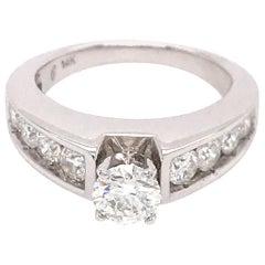 Sweet 14 Karat White Gold Diamond Engagement Ring