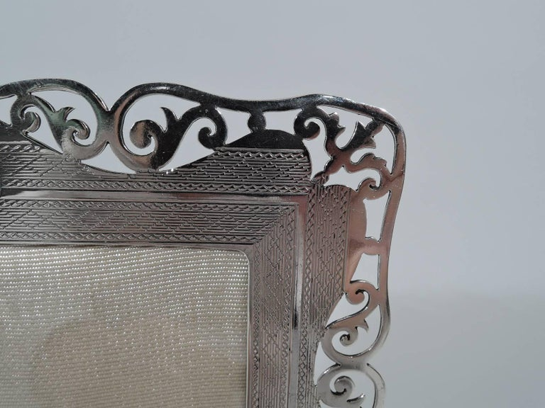 American Sweet Antique English Sterling Silver Picture Frame For Sale