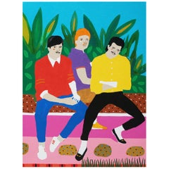 'Sweet Loafers' Portrait Painting by Alan Fears Pop Art
