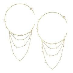 Sweet Pea 18k Yellow Gold Large Gold Dust Hoop Earrings