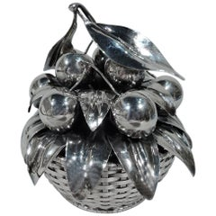 Sweet Sterling Silver Cherry Basket by Buccellati