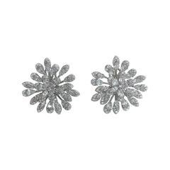 Sweet Stunning CZ Snowflake Earrings