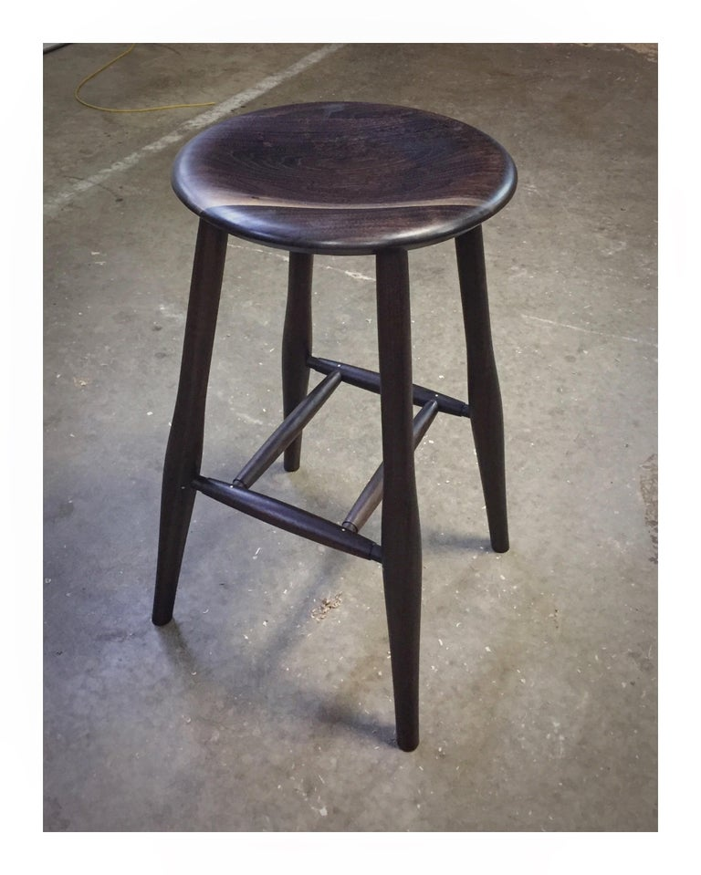 Swell Bar Stool Turned Leg Stool For Sale At 1stdibs