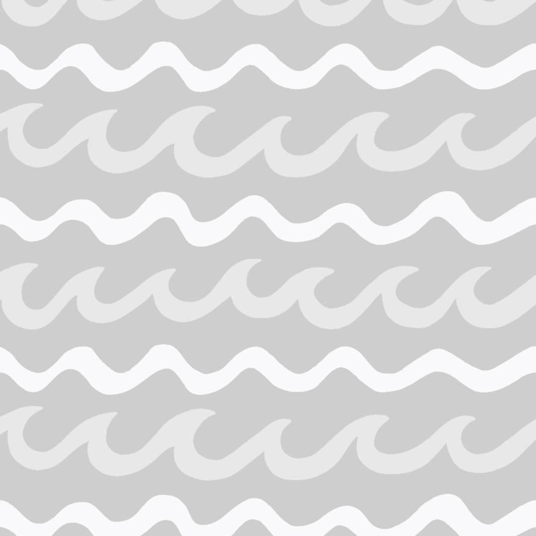 Swell Designer Wallpaper in Cloud 'White, Pale Grey and Mid Grey'