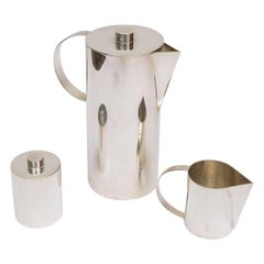 Swid Powell for Calvin Klein Silver- Plate Three-Piece Coffee Service