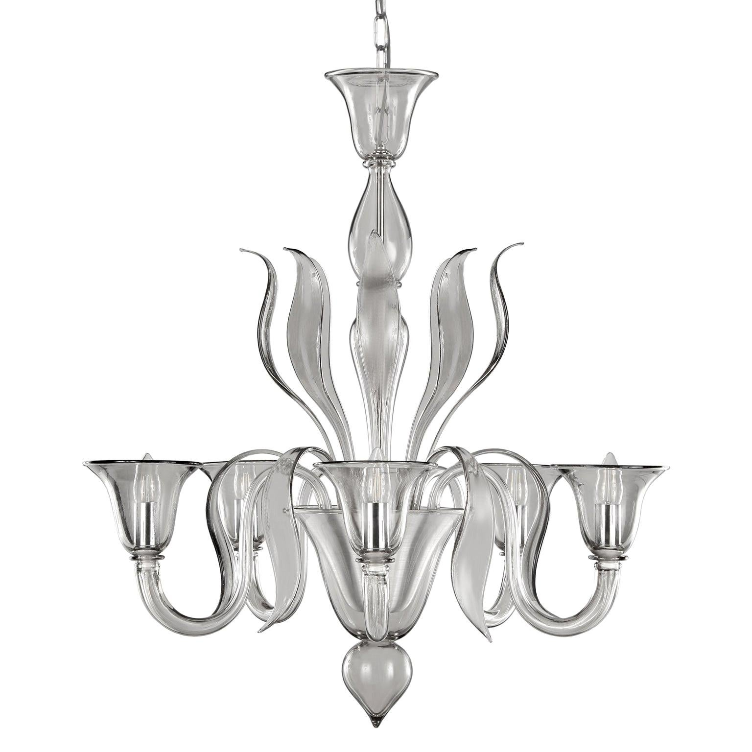 Details about Chandelier in Murano Glass 5 lights