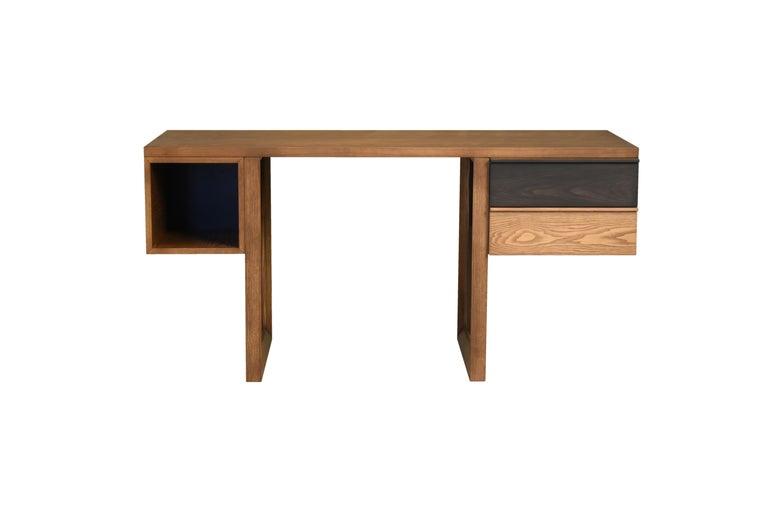 Italian Swing Desk Made of Ashwood, Design Libero Rutilo For Sale