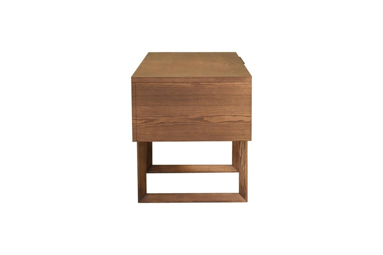 Hand-Crafted Swing Desk Made of Ashwood, Design Libero Rutilo For Sale