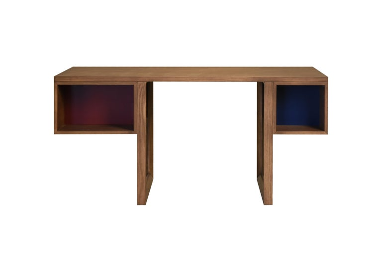 Swing Desk Made of Ashwood, Design Libero Rutilo In New Condition For Sale In Salizzole, IT