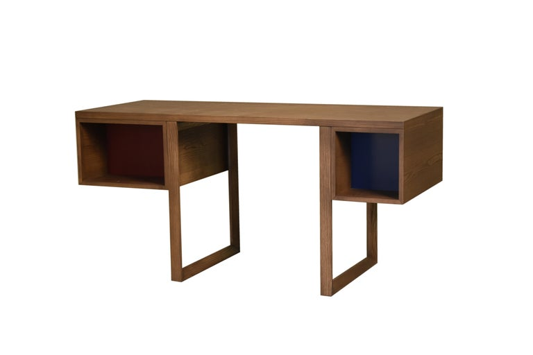 Contemporary Swing Desk Made of Ashwood, Design Libero Rutilo For Sale