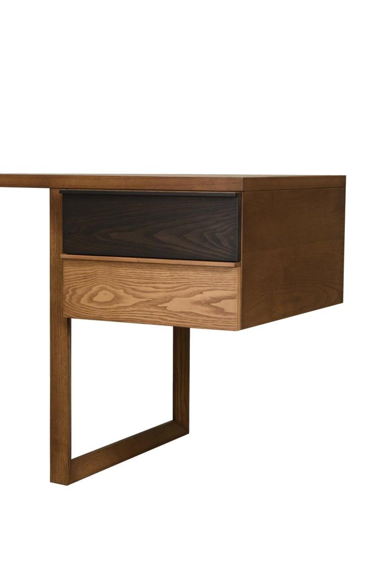 Swing Desk Made of Ashwood, Design Libero Rutilo For Sale 1