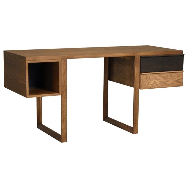 Swing Desk Made of Ashwood, Design Libero Rutilo For Sale
