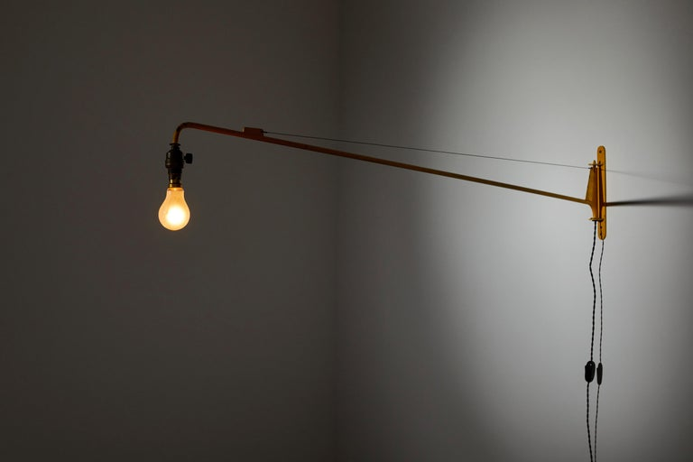 French Swing Jib Wall Light by Jean Prouvé