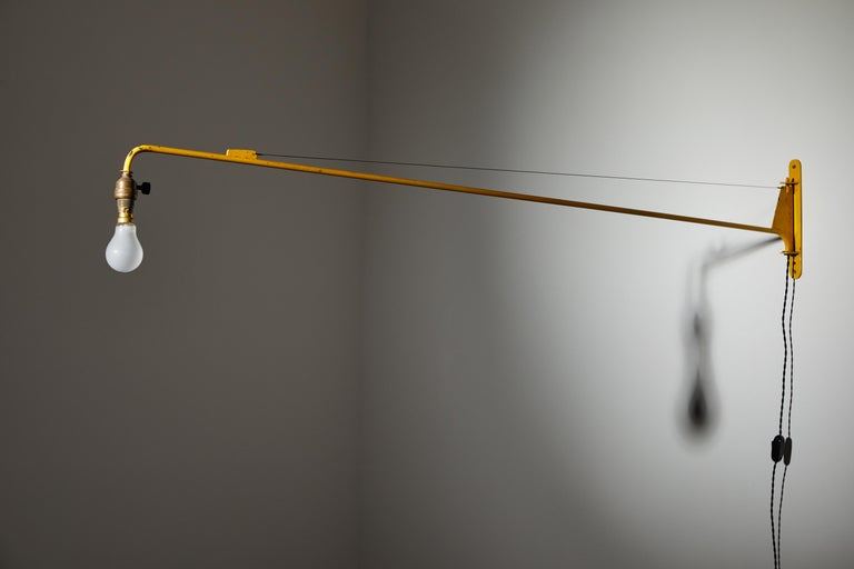 Painted Swing Jib Wall Light by Jean Prouvé