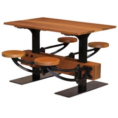 Swing-Out Seat Outdoor Cafe Table Set