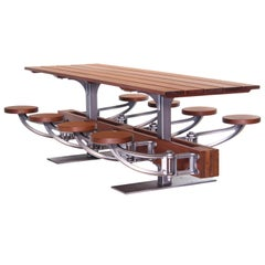 Swing-Out-Seat Outdoor Dining Table Set - 6 Seater and 4 Seater in Pub Height