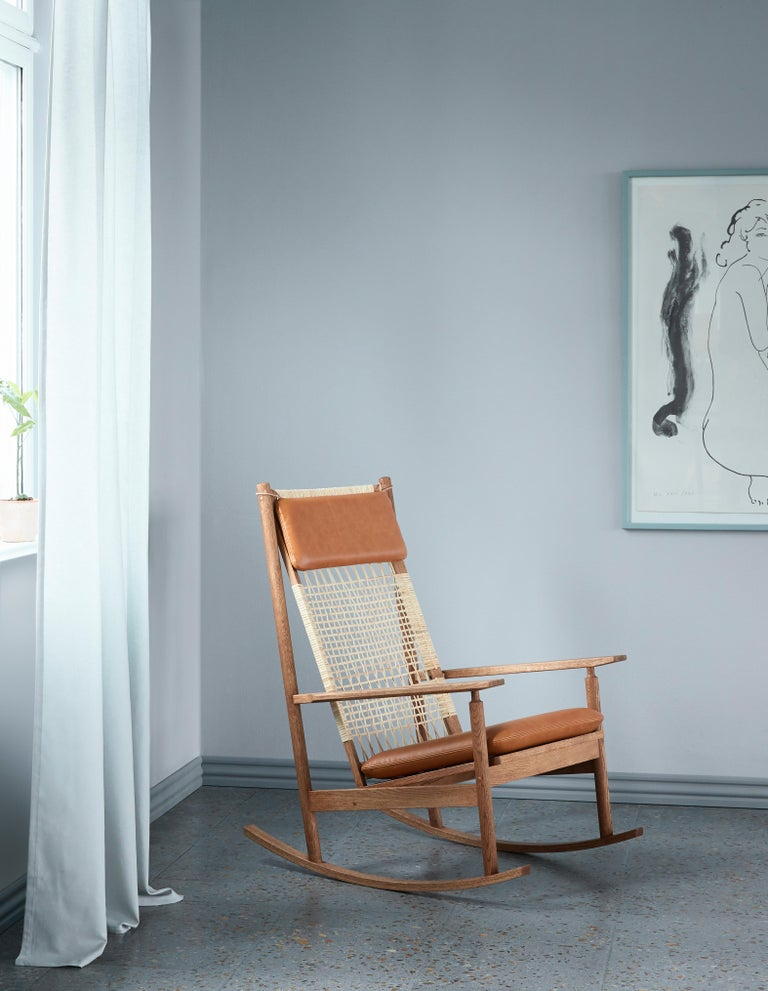 Swing Rocking Chair in Teak, by Hans Olsen from Warm Nordic For Sale 5