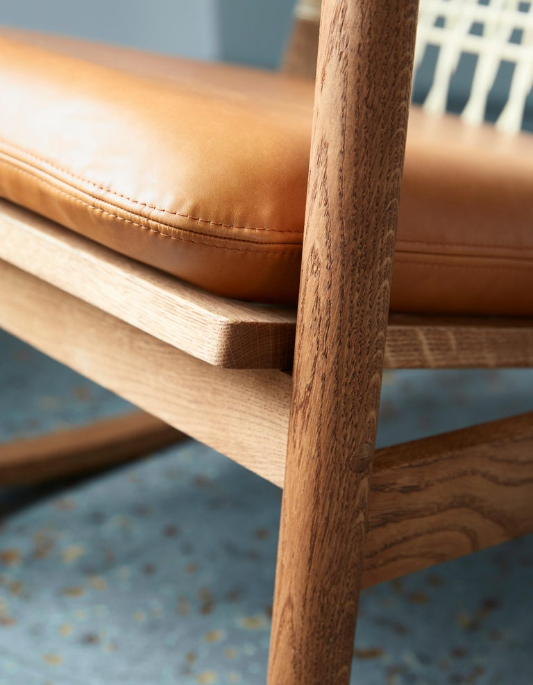 Swing Rocking Chair in Teak, by Hans Olsen from Warm Nordic For Sale 6