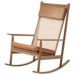 Swing Rocking Chair in Teak, by Hans Olsen from Warm Nordic