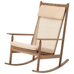 Swing Rocking Chair in Teak, by Hans Olsen from Warm Nordic