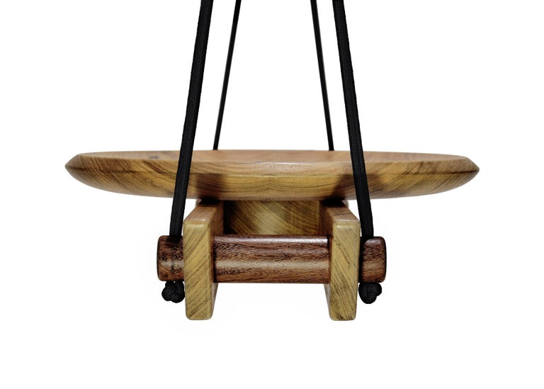 Hand-Crafted Swing 'Viga' in Tropical Brazilian Hardwood, Contemporary Brazilian Design For Sale