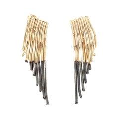 Swinging Earrings in Two Tones Gold from IOSSELLIANI