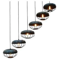 Swinging Metal Enameled Lamps