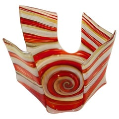 Swirl Art Glass Bowl by James Hayes