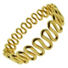 Swirl Choker Yellow Gold, Necklace