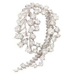 Swirl Diamond Spray Pendant or Brooch