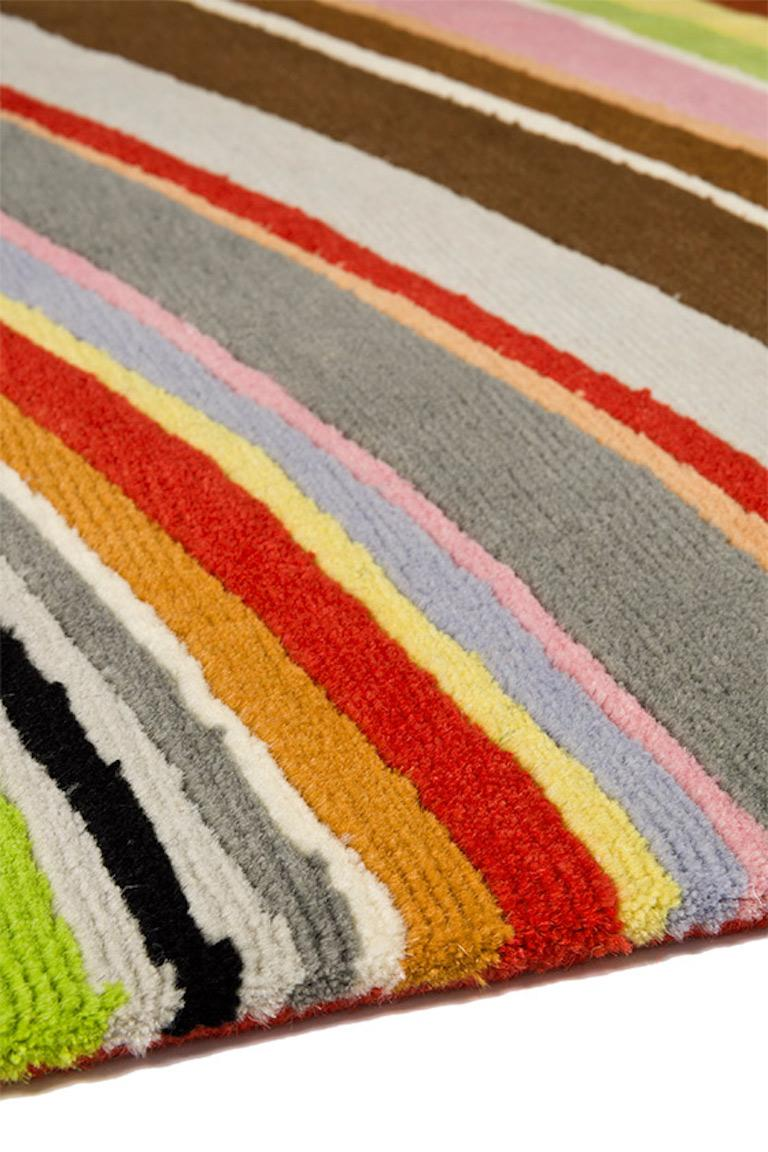 Nepalese Swirl Hand-Knotted 10x8 Rug in Wool by Paul Smith For Sale