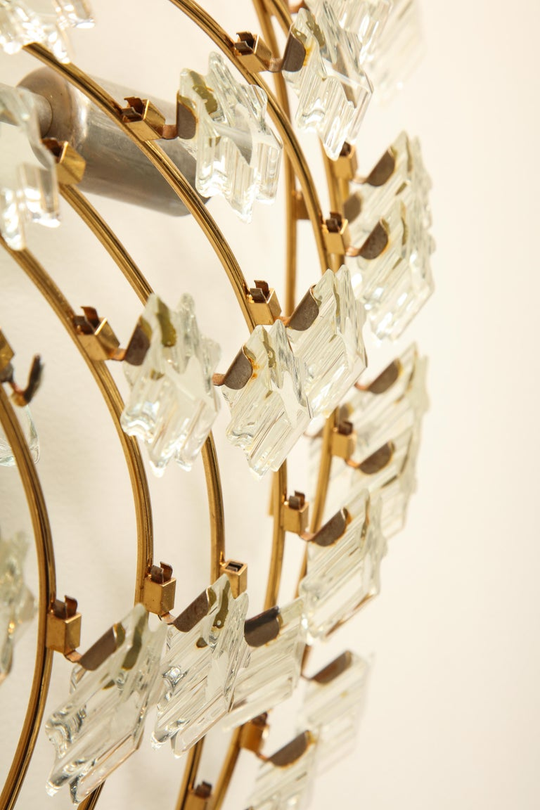 Swirling Italian Glass Wall Light Fixture For Sale 6