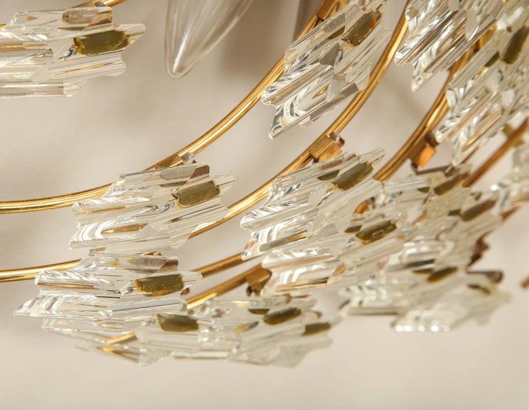 Swirling Italian Glass Wall Light Fixture For Sale 8