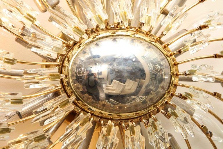 Swirling Italian Glass Wall Light Fixture For Sale 1