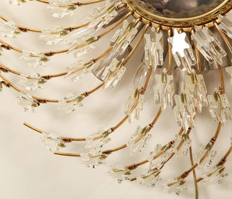 Swirling Italian Glass Wall Light Fixture For Sale 2