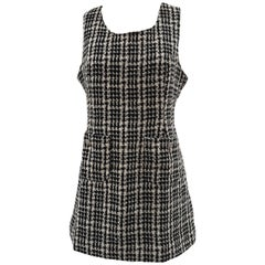 Swish black and white pied de poule dress