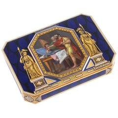 Swiss 18-Karat Gold & Enamel Snuff Box, Remond, Lamy & Cie, circa 1800