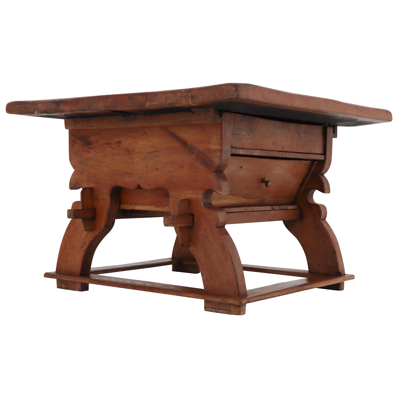 Swiss 18th Century Oak Refectory Table