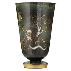 Swiss 1930s Neoclassical Large Vase of the Goddess Diana for Atelier Menelika