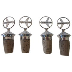 Swiss Air Airlines Silver Logo Wine / Bottle Stoppers