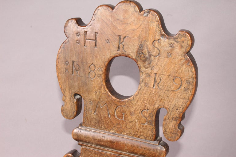 Early 19th Century Swiss alp escabelle dated  For Sale