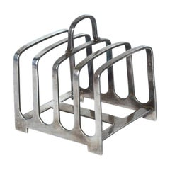 Swiss Art Deco Silverplated Toast Rack